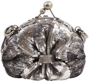 Jamin Puech Silver Glitter Clutch Bag