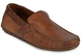 Bacco Bucci Ariston Textured Leather Driving Loafers