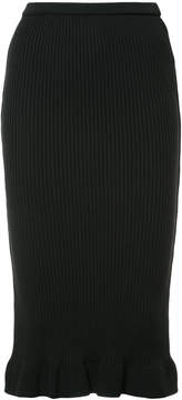 Aula ribbed pencil skirt