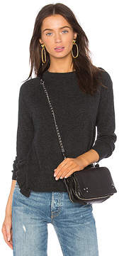 Autumn Cashmere Boxy Crew Side Ruffle Sweater