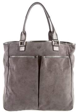 Anya Hindmarch Suede Leather-Trimmed Tote
