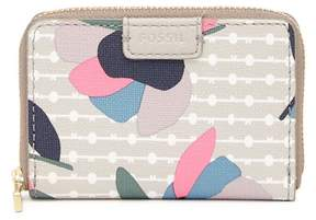 Fossil Printed Mini Zip Wallet - RFID Protection
