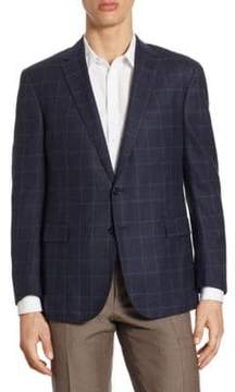 Ralph Lauren Plaid Print Wool Jacket