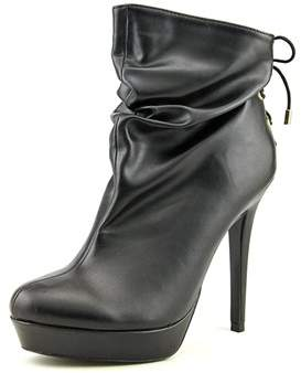 Thalia Sodi Honra Women Round Toe Synthetic Black Ankle Boot.