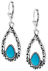 American West Sleeping Beauty TurquoiseSterl. Earrings