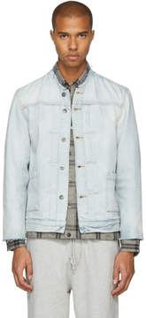 Levi's Levis Made and Crafted Blue Denim Type II Cut-Off Trucker Jacket