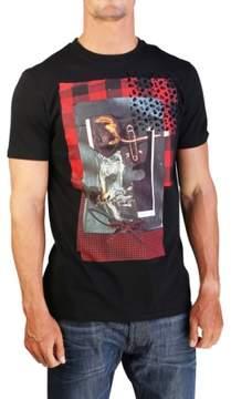 Christian Dior Men's Rose Flannel Print T-Shirt Black
