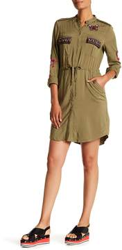 Desigual Embroidered Long Sleeve Dress
