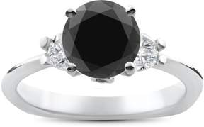 Black Diamond Pompeii3 1 3/8ct Treated Engagement Accent Anniversary Ring