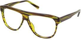 Cynthia Rowley Stripe Pilot Plastic Eyeglasses.