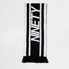 River Island Mens Black knit 'ninety' football scarf