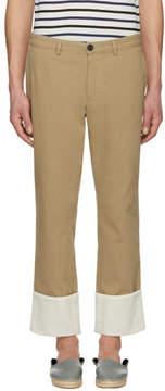 Loewe Tan Turnup Chino Trousers