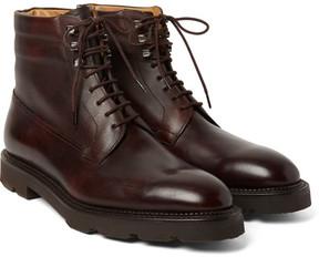 John Lobb Alder Panelled Leather Boots