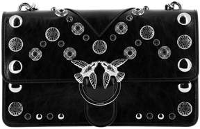 Pinko Crossbody Bags Love Bag Suede With All Over Studs And Chain Shoulder Strap