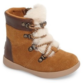 UGG Toddler Girl's Ager Genuine Shearling Water Resistant Bootie