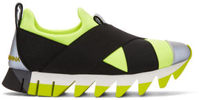Dolce & Gabbana Yellow Criss-Cross Sneakers