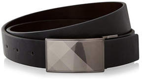 Express reversible plaid buckle belt