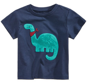 First Impressions Fuzzy Dino-Print Cotton T-Shirt, Baby Boys (0-24 months), Created for Macy's