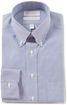 Roundtree & Yorke Gold Label Non-Iron Fitted Classic-Fit Button-Down Collar Striped Dress Shirt