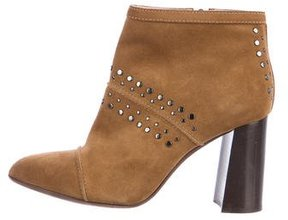 Lanvin Studded Suede Ankle Boots