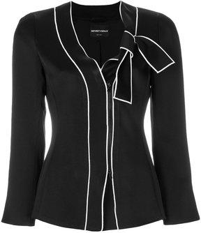 Emporio Armani fitted tie blazer