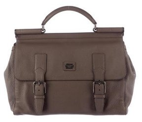 Dolce & Gabbana Miss Sicily XL New Messenger Bag - GREY - STYLE