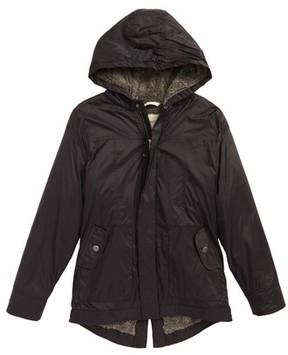 Tucker + Tate Boy's Water Resistant Nylon Hooded Jacket