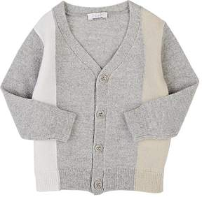 Il Gufo Striped Virgin Wool Cardigan
