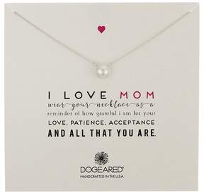 Dogeared I Love Mom Pearl Necklace Necklace