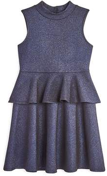 Aqua Girls' Metallic Peplum Dress, Big Kid - 100% Exclusive