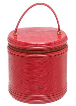 Louis Vuitton Cannes leather satchel - RED - STYLE