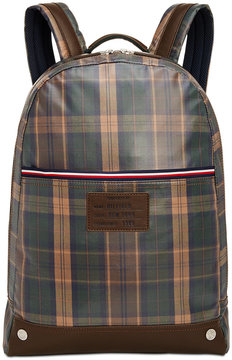 Tommy Hilfiger Men's Coated Woven Plaid Backpack