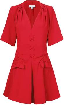Carven Robe Courte Lace-Up Dress