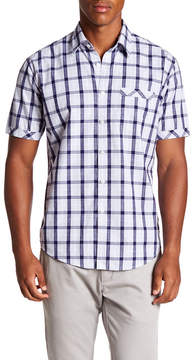 James Campbell Rink Short Sleeve Plaid Regular Fit Shirt