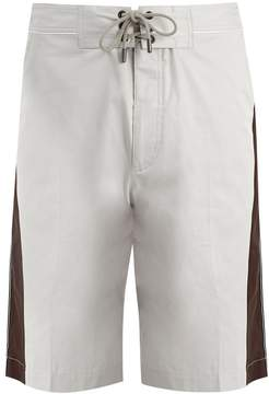 Lanvin Side-stripe cotton shorts