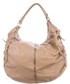 Sergio Rossi Leather Chain-Link Hobo