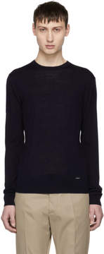 DSQUARED2 Navy Wool Pullover