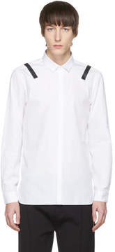 Neil Barrett White and Black Taped Shoulder Shirt