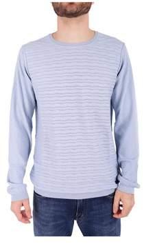 Trussardi Men's Light Blue Cotton Sweater.