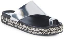 Sigerson Morrison Laddie Metallic Leather Espadrilles