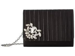 Jessica McClintock Katie Satin Pleated Flap Handbags