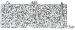 Edie Parker Flavia metallic clutch bag