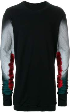 11 By Boris Bidjan Saberi faded sleeve jumper