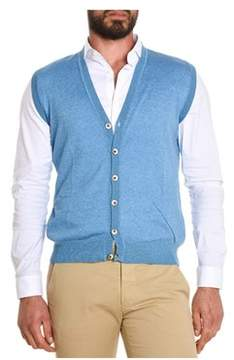 H953 Men's Light Blue Cotton Vest.