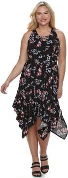 Candies Juniors' Plus Size Candie's Lace-Up Maxi Dress