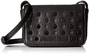 Armani Jeans Eco Leather Crossbody with Studs