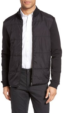BOSS Men's Shepherd Woven Front Zip Front Fleece Jacket