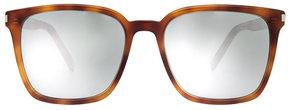 Saint Laurent Square Tortoiseshell Print Sunglasses