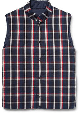 Aspesi Quilted Checked Cotton Gilet