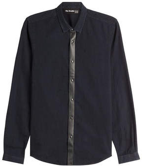 The Kooples Cotton Shirt with Leather
